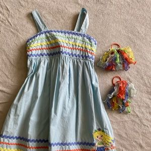 Gymboree dress size 7 with hair ties
